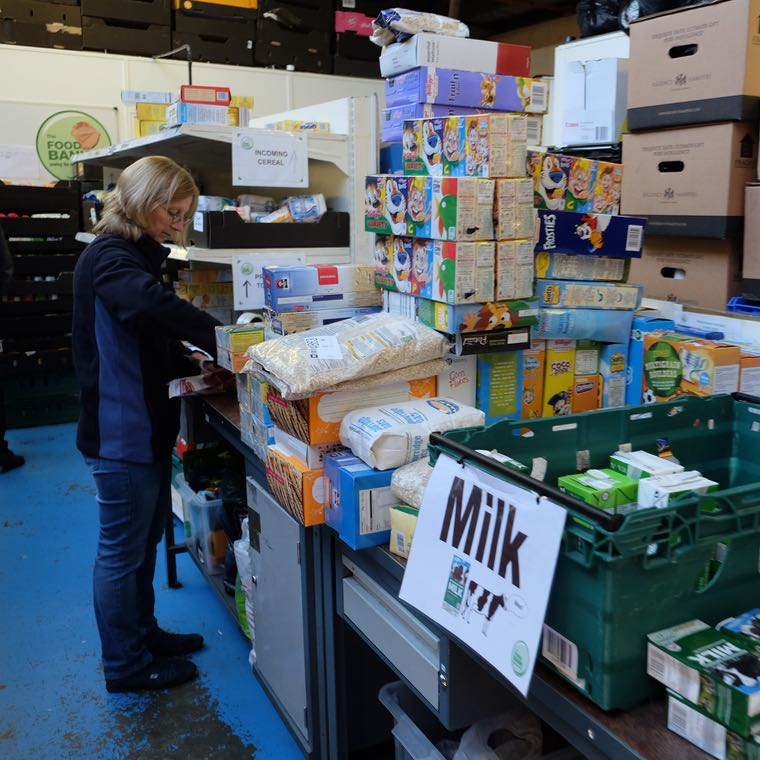 Entropie make a special delivery to The Milton Keynes Food Bank